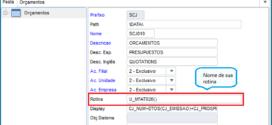 Utilizando o campo X2_ROTINA da tabela SX2 (Tabelas de Dados)